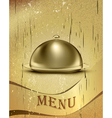 Old catering tray background vector