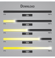 Yellow lights internet download bars set eps10 vector