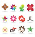 Contemporary logo collection vector