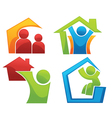 Concept of happy loving home vector