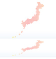 Map of state of japan with dot pattern vector
