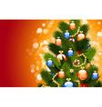 Christmas card with fir-tree vector