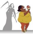 Danger of obesity vector