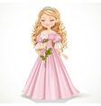 Beautiful modest princess in a pink dress vector