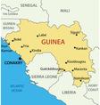 Republic of guinea - map vector