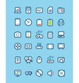 Different tech equipment icons vector