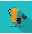 Coffee icon menu flat design for menu coffee shop vector