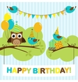 Party birds card vector