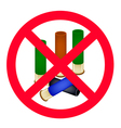 Stack of bullets and the forbidden sign vector