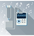 Playing music in mp3 player vector