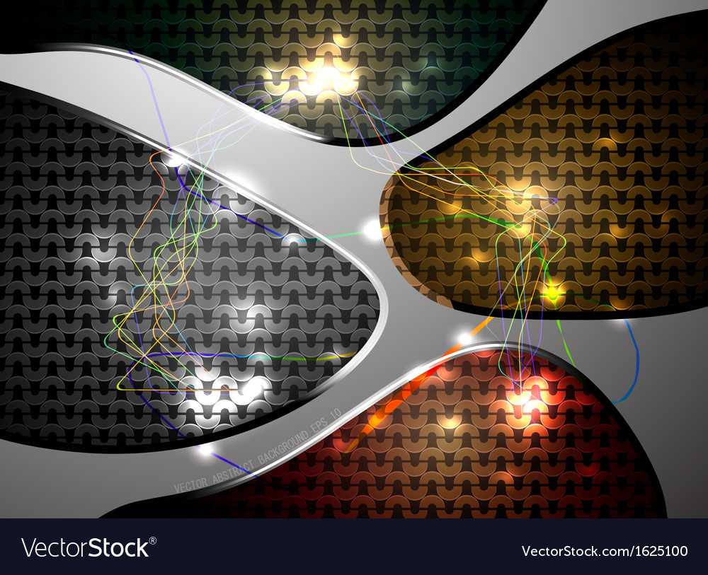 Abstract colorful line on pattern background vector