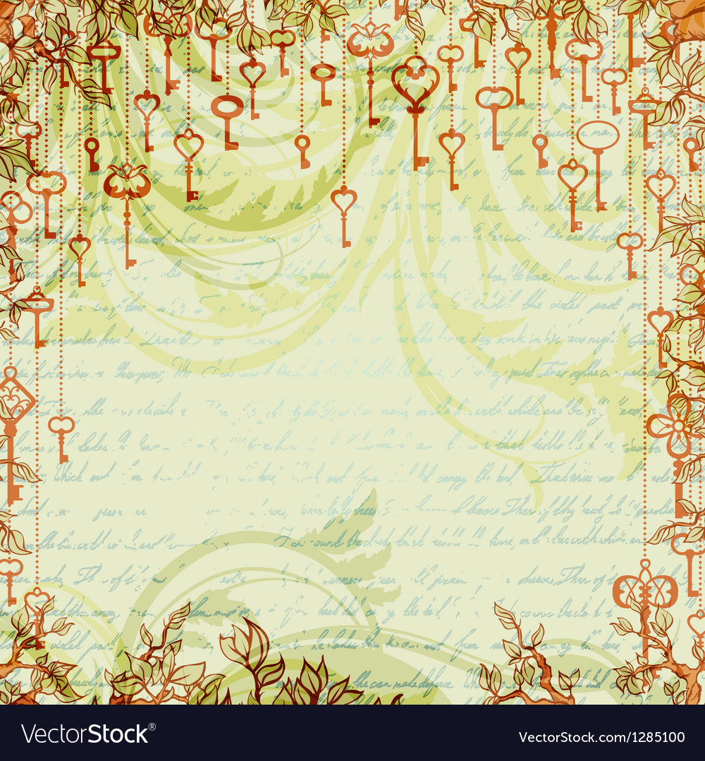 Abstract vintage background with antique keys vector | Price: 1 Credit (USD $1)
