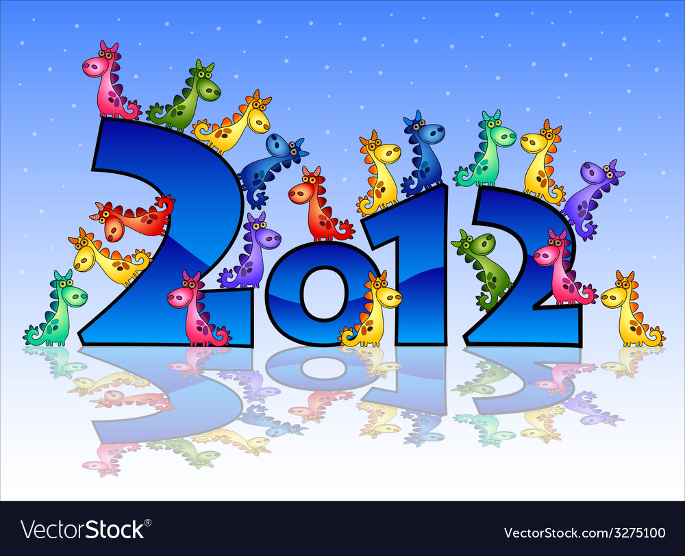 Happy new year 2015 card with goats vector | Price: 1 Credit (USD $1)