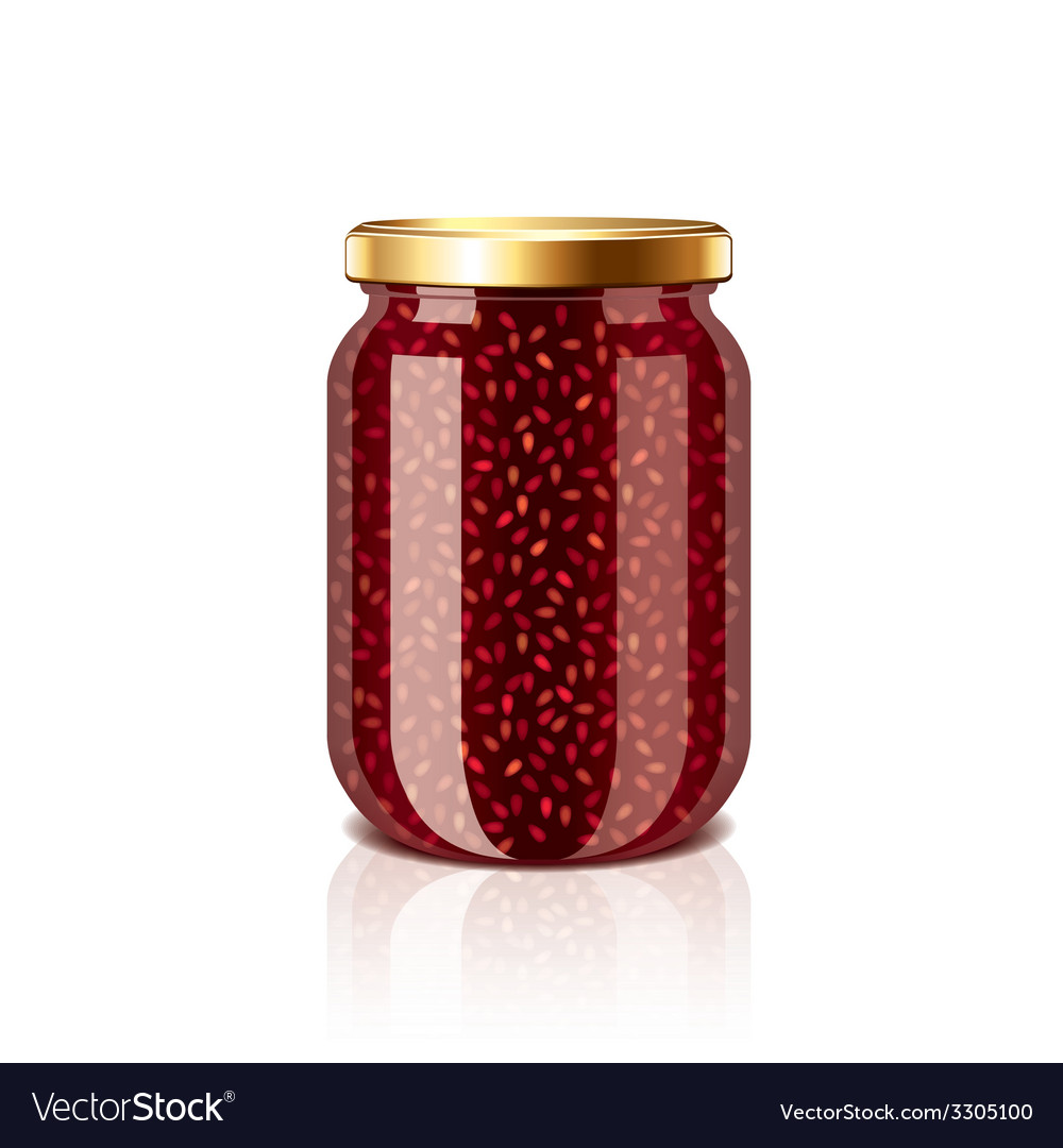 Jam jar isolated vector | Price: 1 Credit (USD $1)