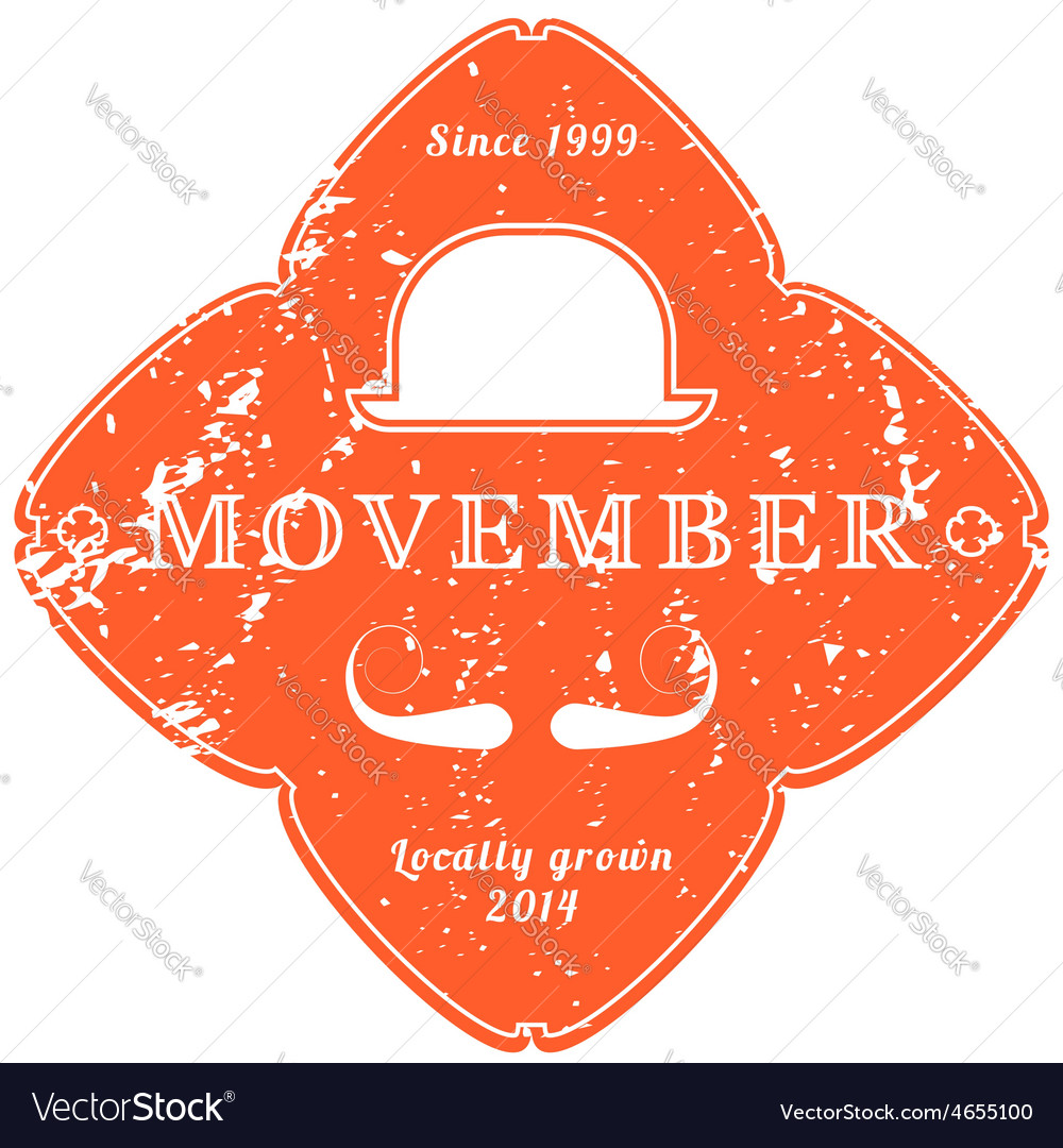 November 27 2014 the movember foundation is an vector | Price: 1 Credit (USD $1)