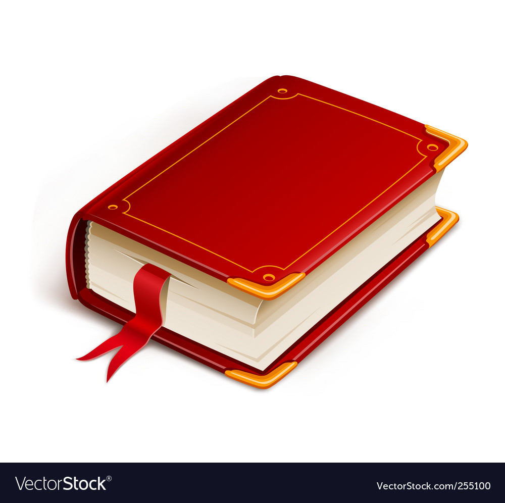 Old book with bookmark vector   Price: 1 Credit (USD $1)