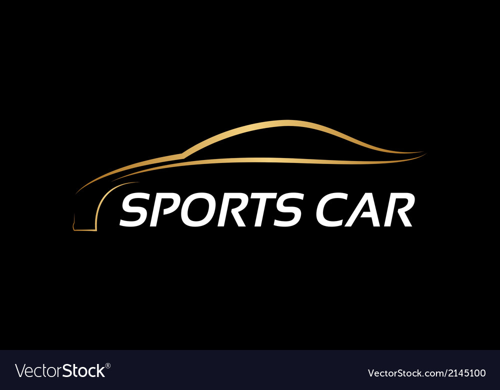 Sports car logo vector | Price: 1 Credit (USD $1)