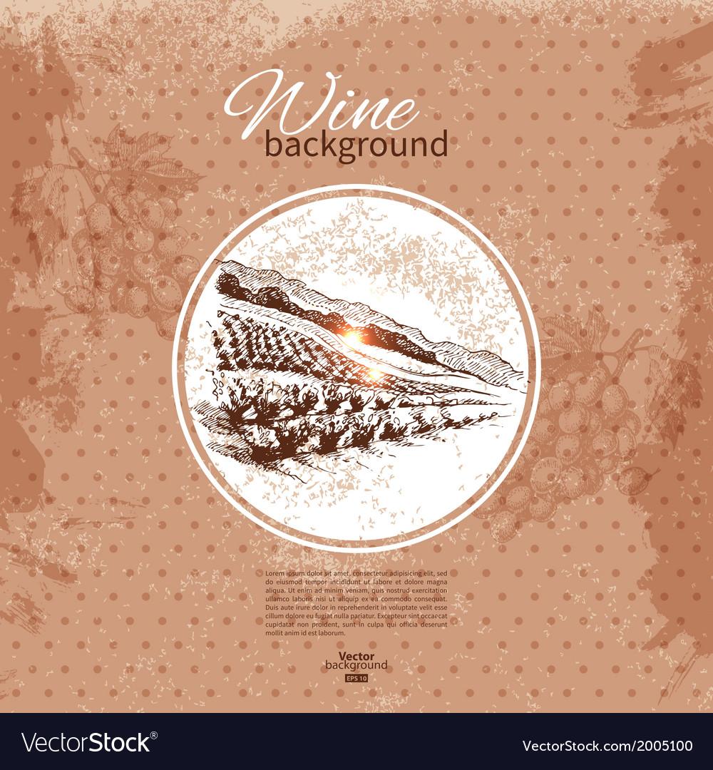 Wine vintage background vector   Price: 1 Credit (USD $1)