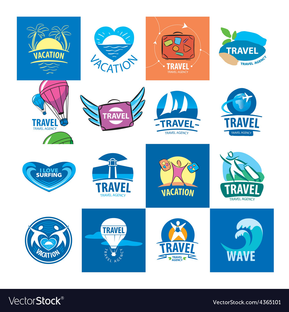 Biggest collection of logos for travel and tourism vector | Price: 1 Credit (USD $1)