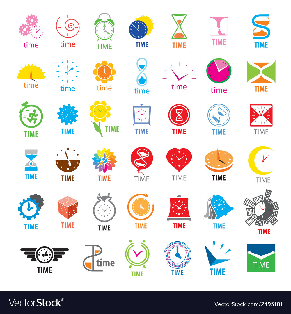 Biggest collection of logos time vector | Price: 1 Credit (USD $1)