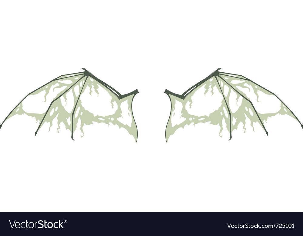 Decayed bat wings vector | Price: 1 Credit (USD $1)