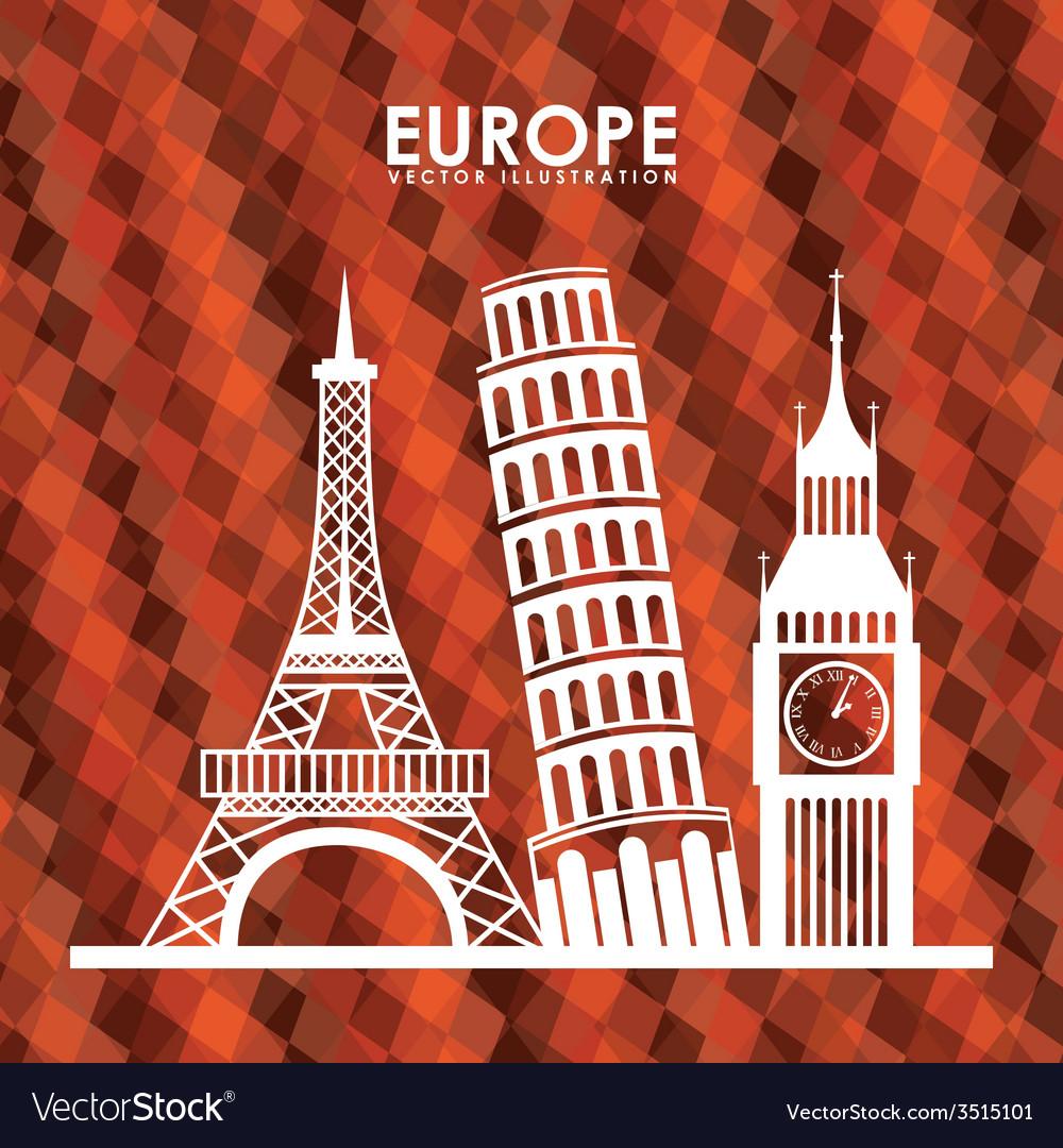 Europe design vector | Price: 1 Credit (USD $1)