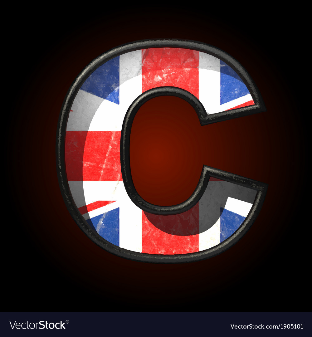 Great britain cutted figure c vector | Price: 1 Credit (USD $1)