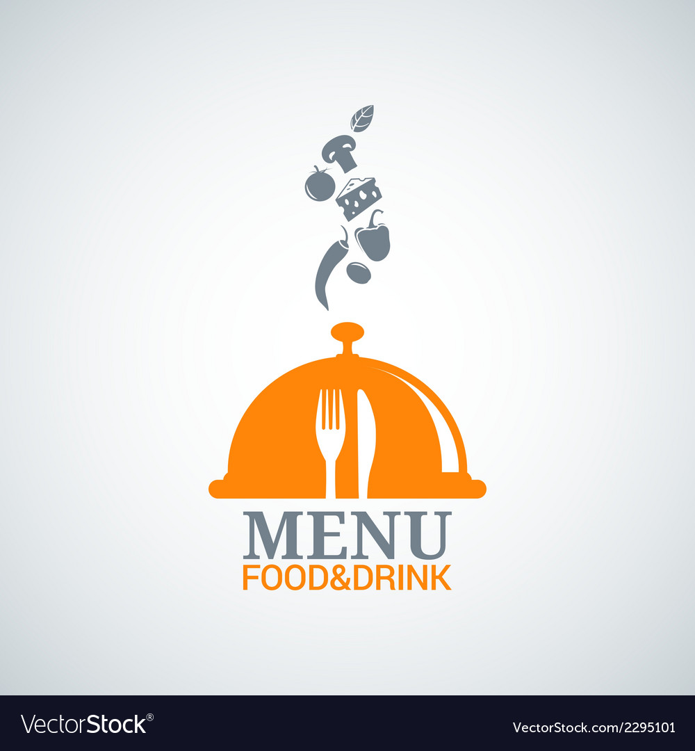 Menu design food drink dishes background vector | Price: 1 Credit (USD $1)