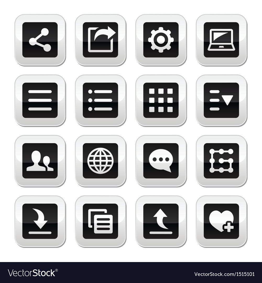 Menu settings tools buttons set vector   Price: 1 Credit (USD $1)