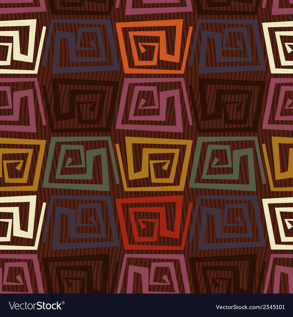 Seamless pattern in tribal style vector | Price: 1 Credit (USD $1)