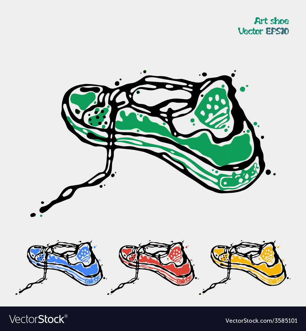 Symbol of sports shoes logo for running sneakers vector | Price: 1 Credit (USD $1)