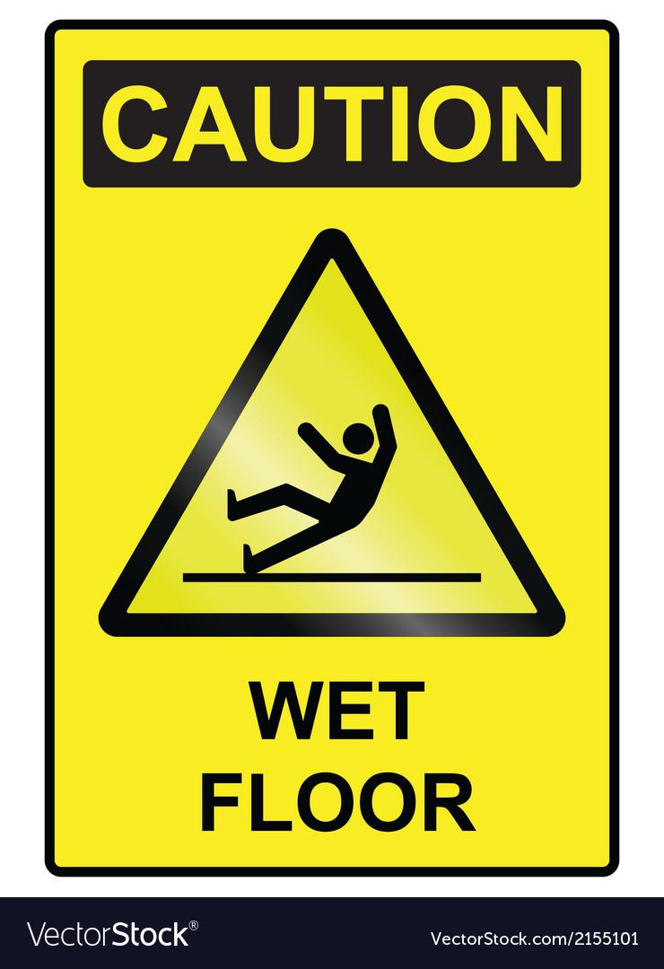 Wet floor hazard sign vector | Price: 1 Credit (USD $1)