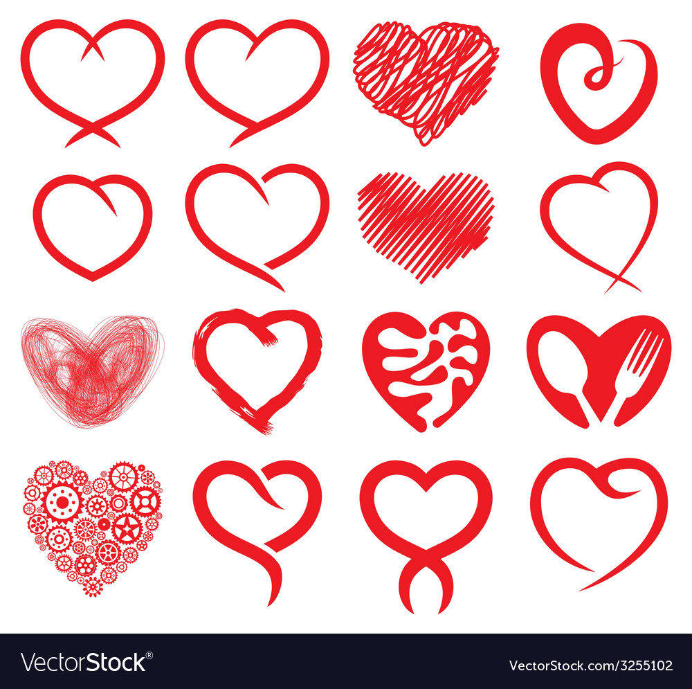 Big heart collection1 vector | Price: 1 Credit (USD $1)
