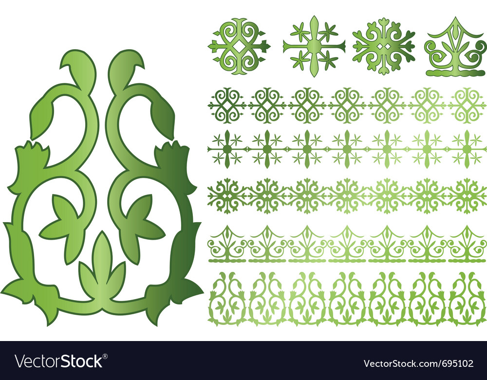 Caucasus ornaments vector | Price: 1 Credit (USD $1)