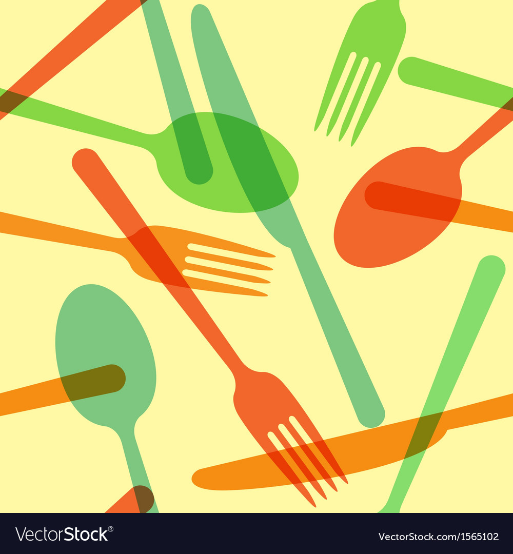 Colorful cutlery pattern vector | Price: 1 Credit (USD $1)