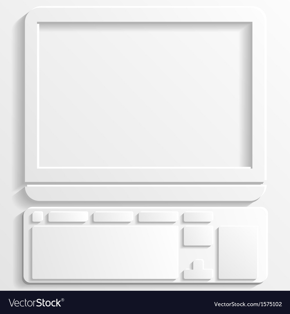 Computer icon vector   Price: 1 Credit (USD $1)