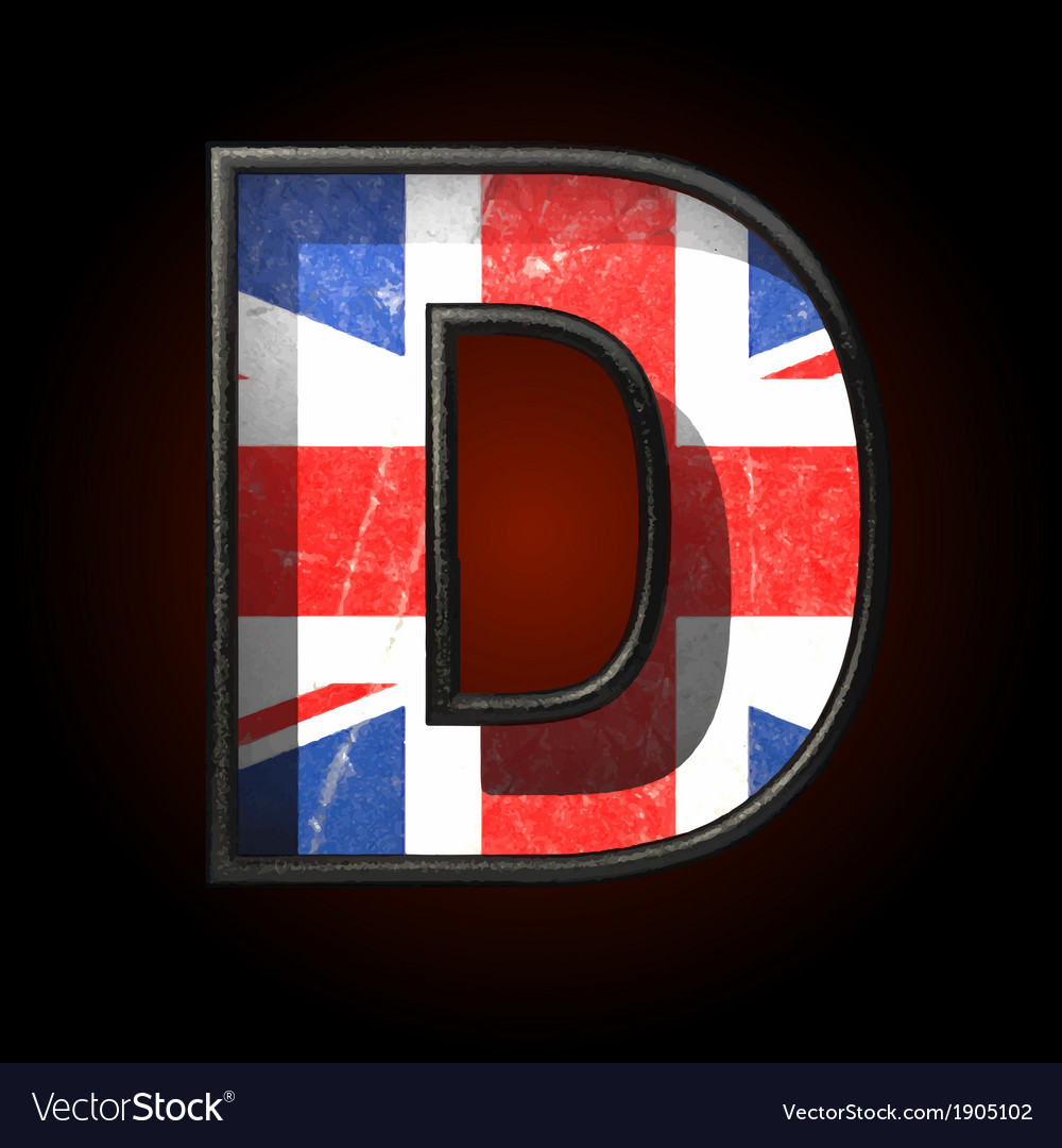 Great britain cutted figure d vector | Price: 1 Credit (USD $1)