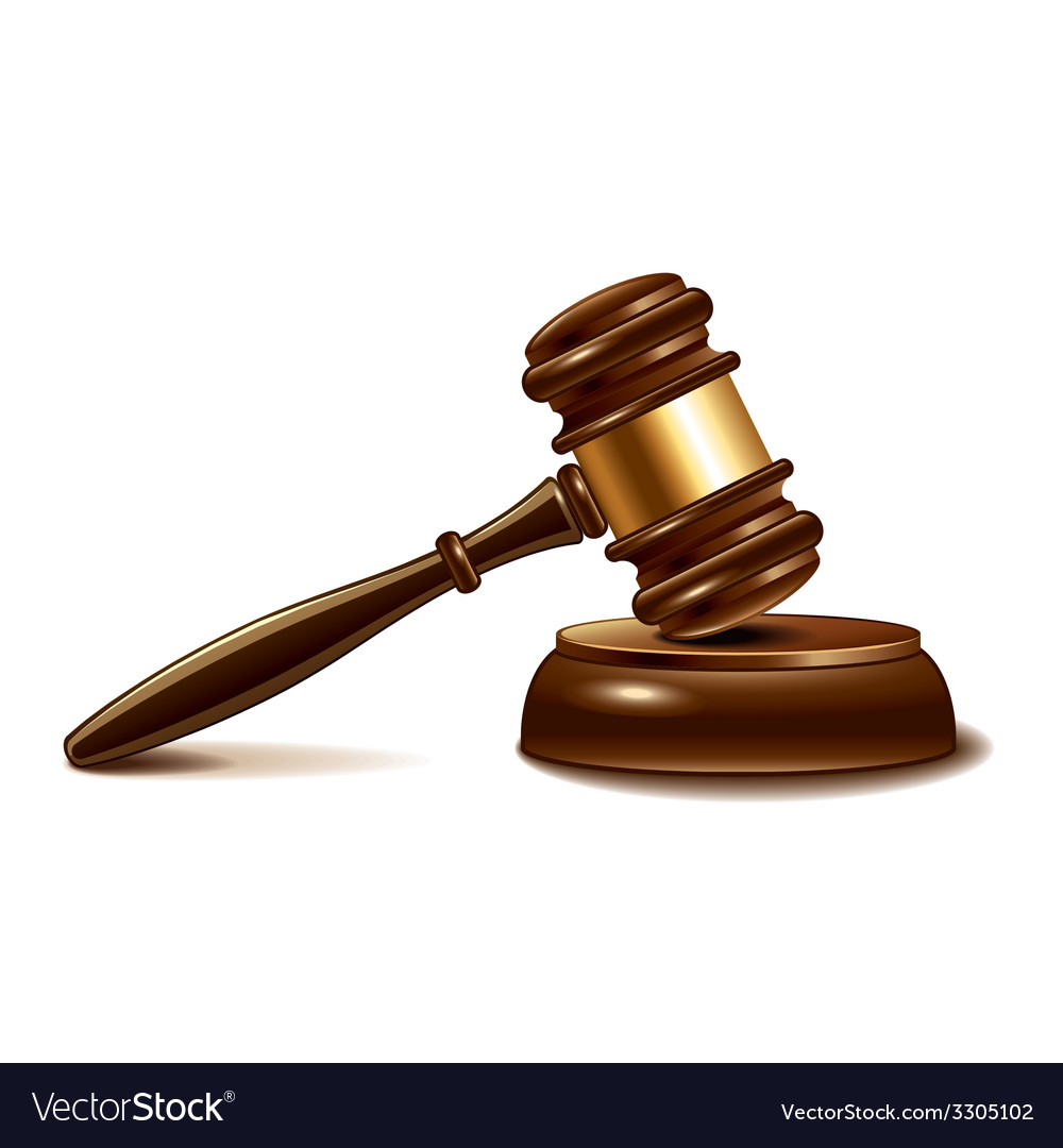 Judge gavel isolated vector | Price: 3 Credit (USD $3)