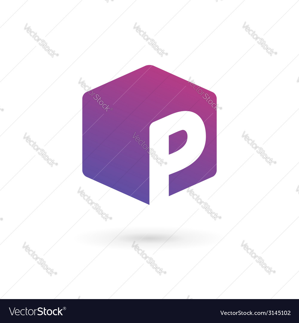 Letter p cube logo icon design template elements vector | Price: 1 Credit (USD $1)