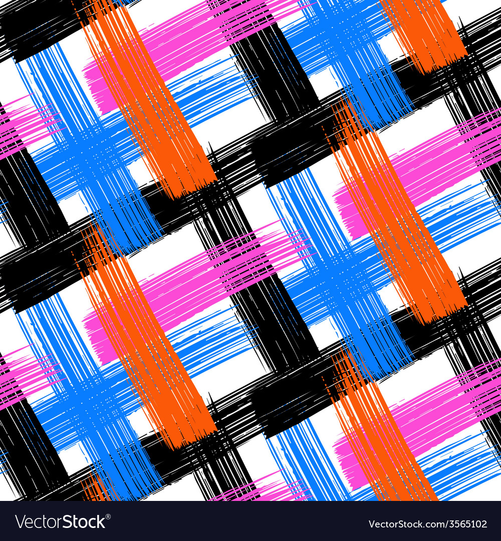 Seamless bold plaid pattern vector | Price: 1 Credit (USD $1)