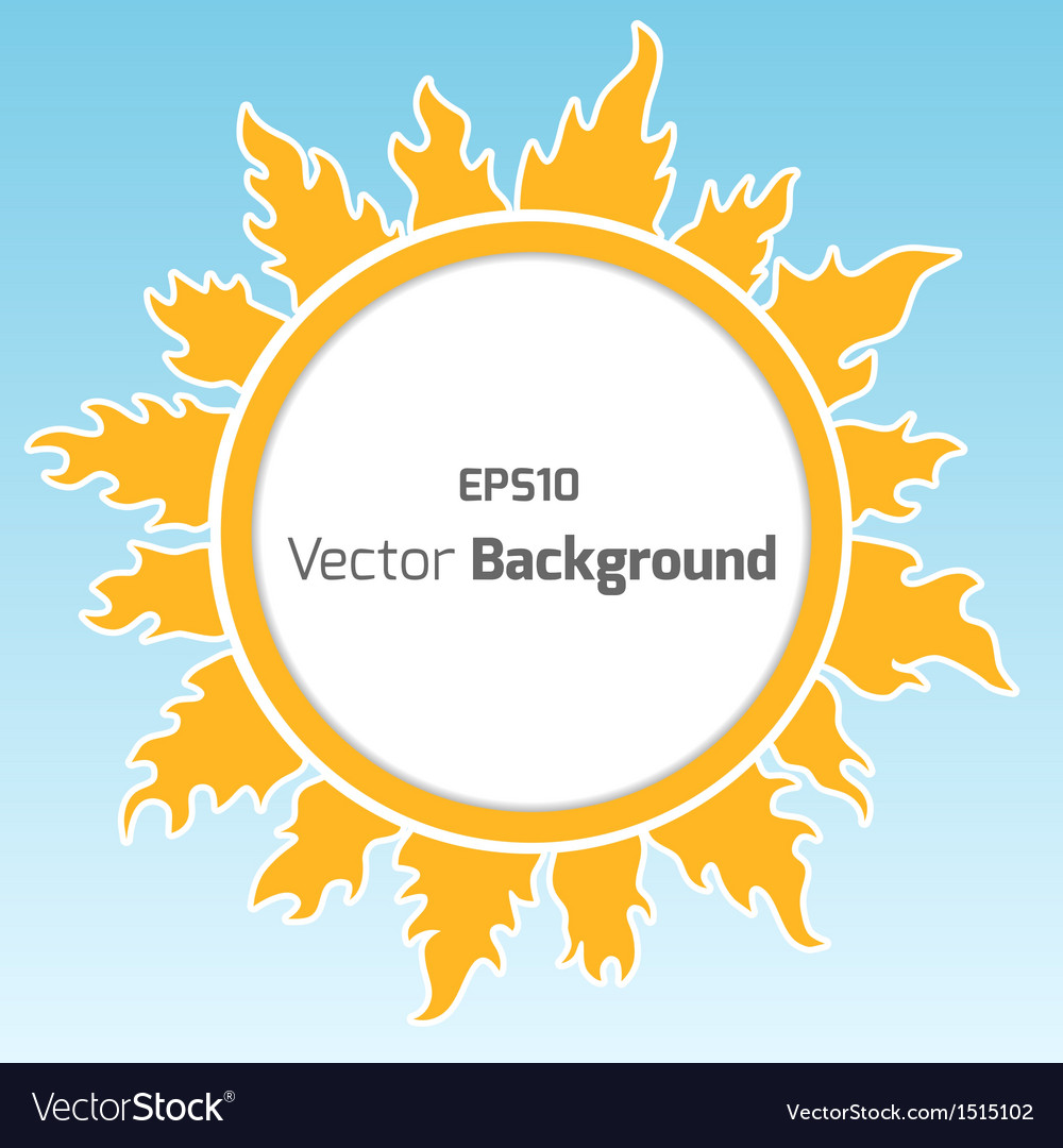 Sunshine round background vector | Price: 1 Credit (USD $1)