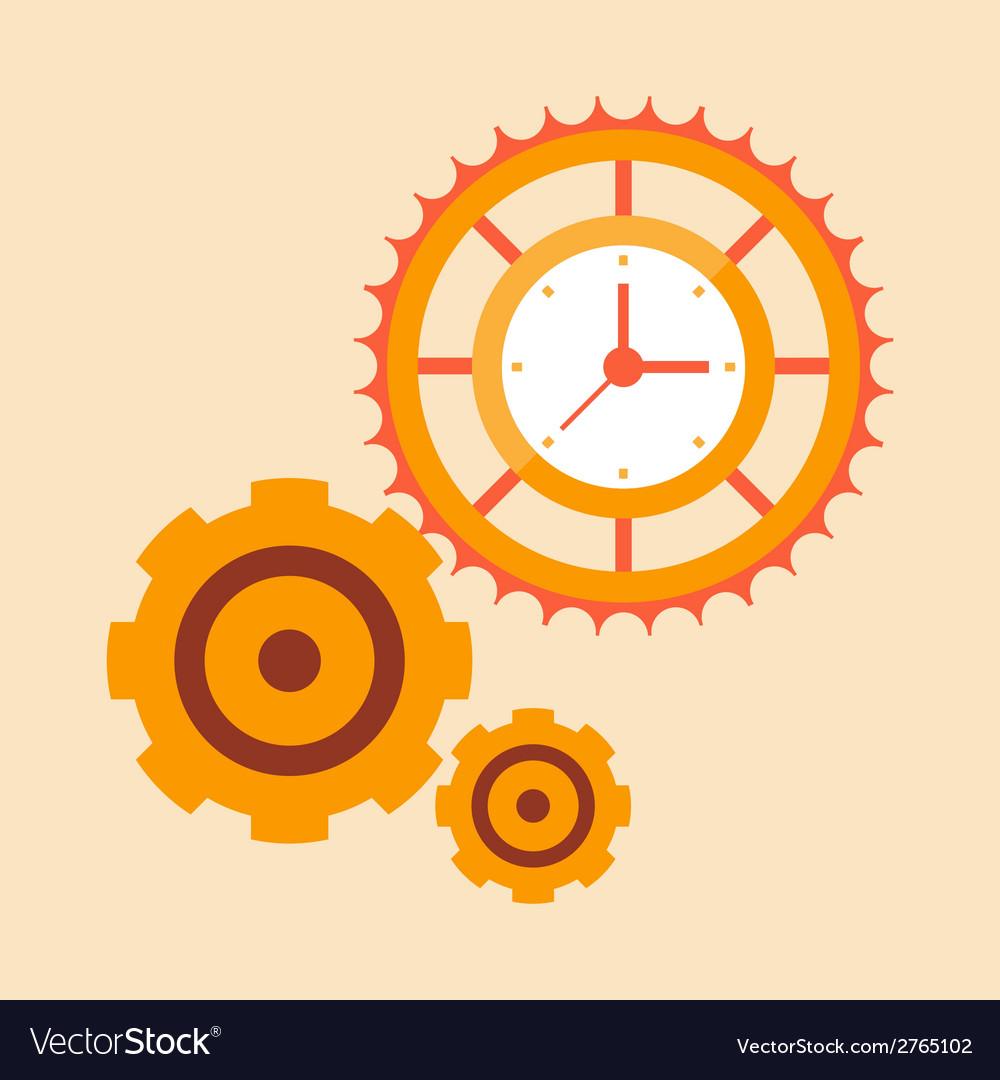 Time mechanisms vector | Price: 1 Credit (USD $1)