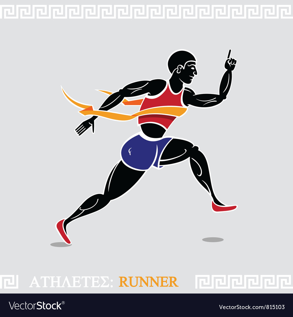 Athlete runner vector | Price: 3 Credit (USD $3)