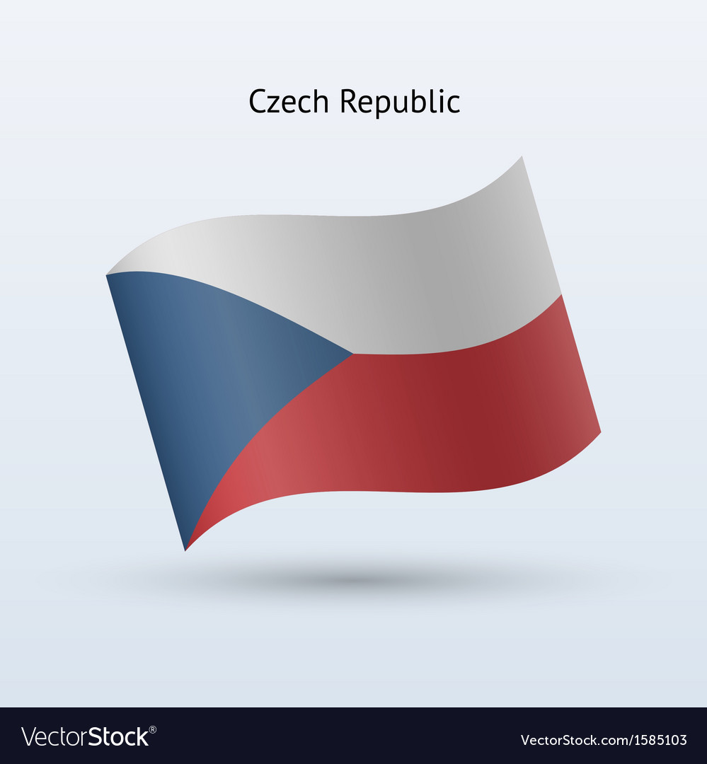 Czech republic flag waving form vector | Price: 1 Credit (USD $1)