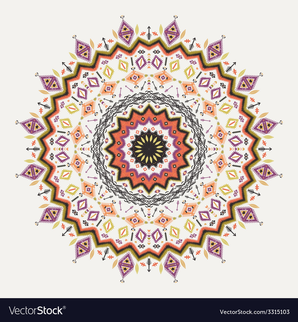 Ethnic decorative ornament on native ethnic style vector | Price: 1 Credit (USD $1)