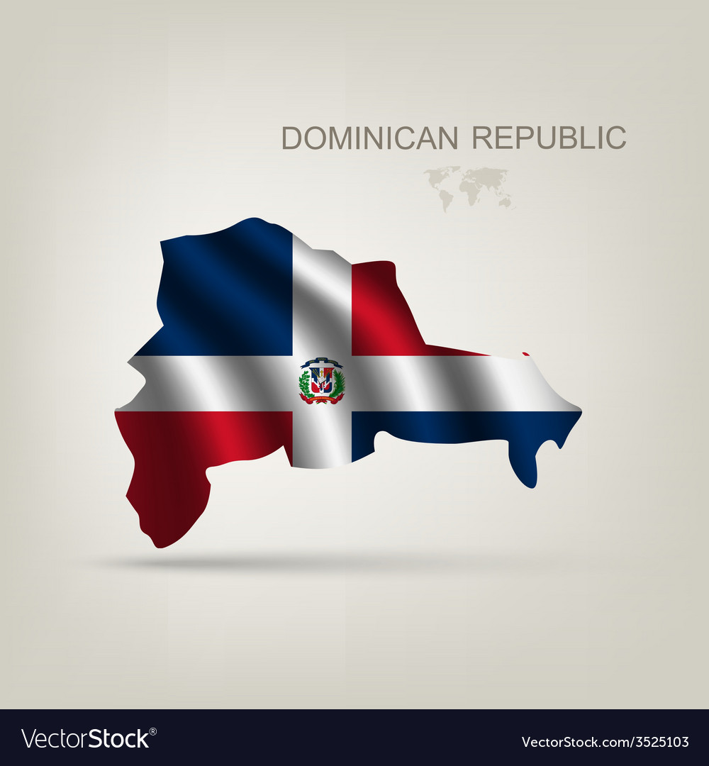 Flag of the dominican republic as a country vector | Price: 1 Credit (USD $1)