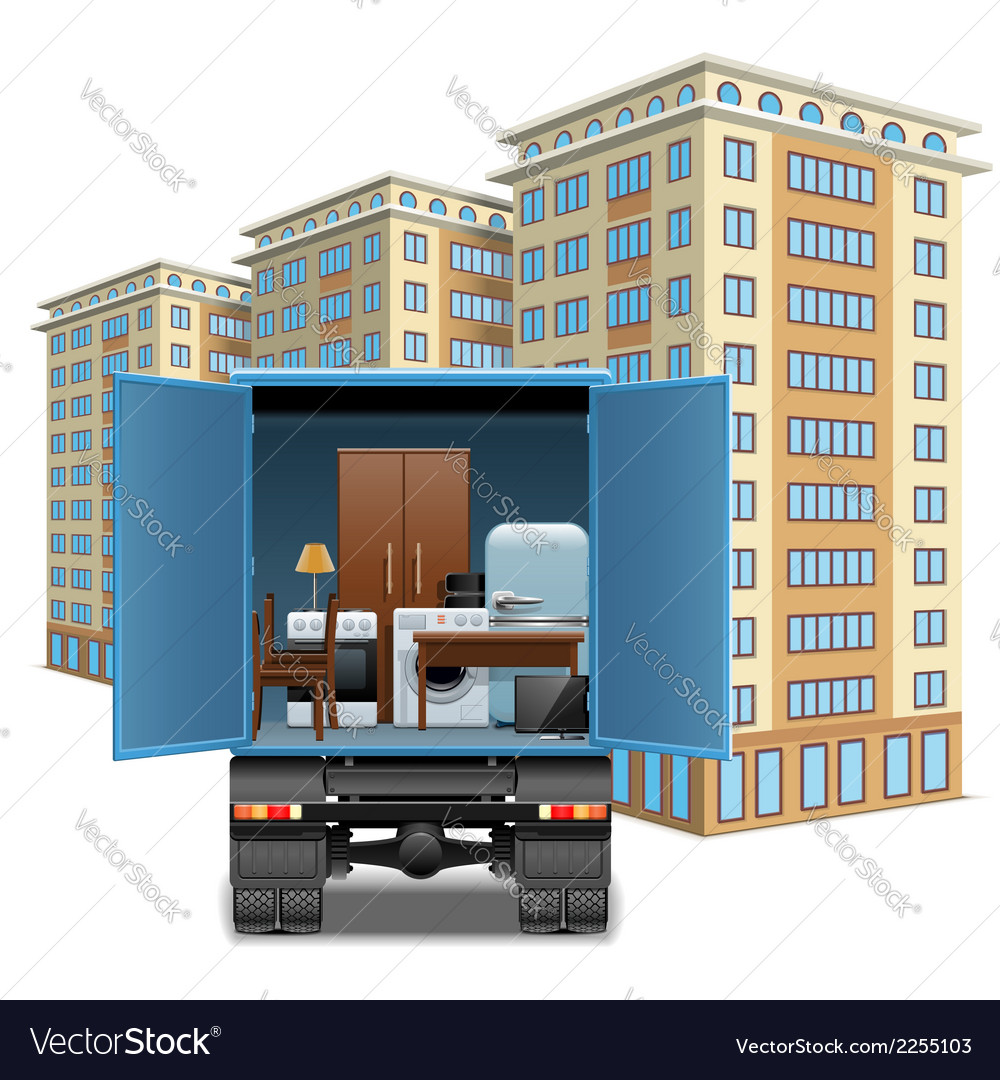 Furniture transportation vector | Price: 1 Credit (USD $1)
