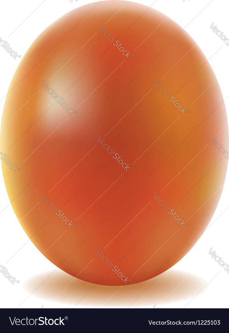 Gold easter egg isolated on white background vector | Price: 1 Credit (USD $1)