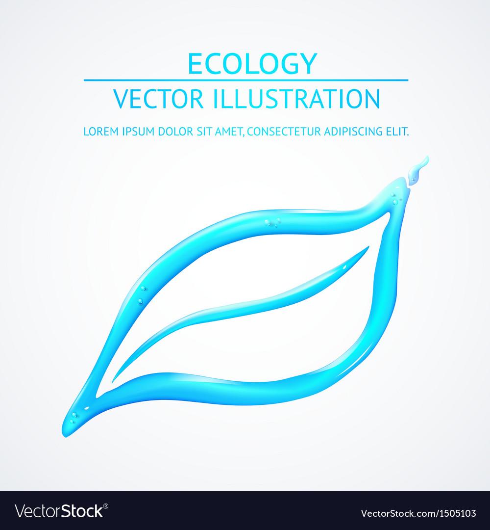 Liquid eco simbol isolated on white vector | Price: 1 Credit (USD $1)