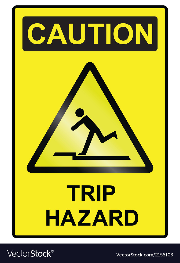 Trip hazard sign vector | Price: 1 Credit (USD $1)
